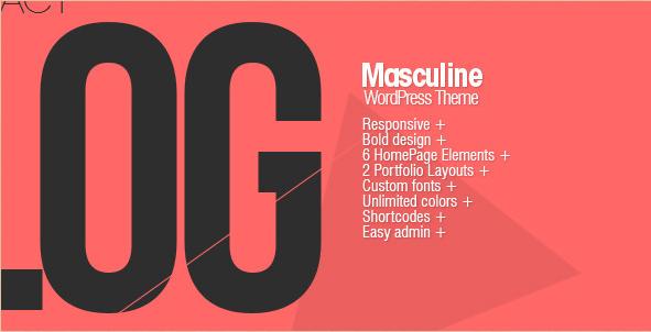 Masculine - Responsive Portfolio Theme