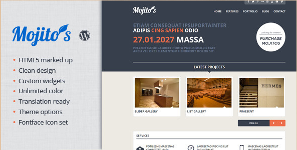 Mojitos - Creative WordPress Theme