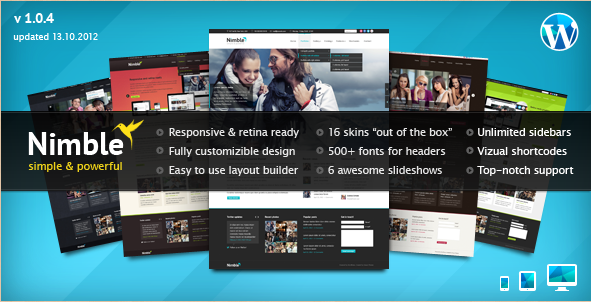 Nimble - Retina Ready WordPress Template