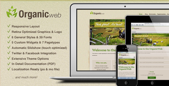 Organic Web - WordPress Environmental Template