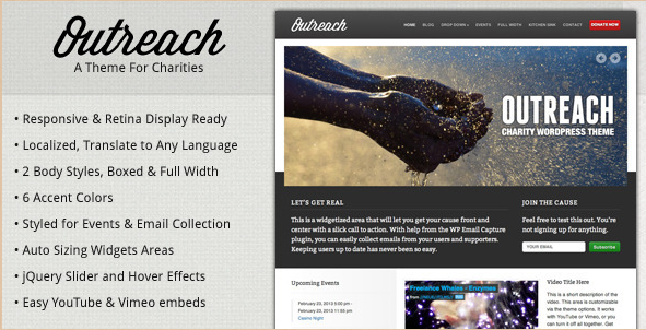 Outreach - Charity WordPress Template
