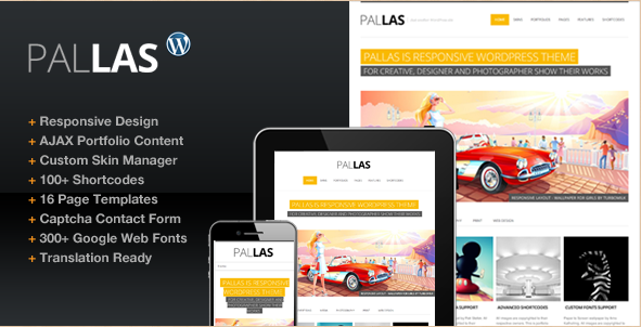 Pallas - Creative WordPress Theme