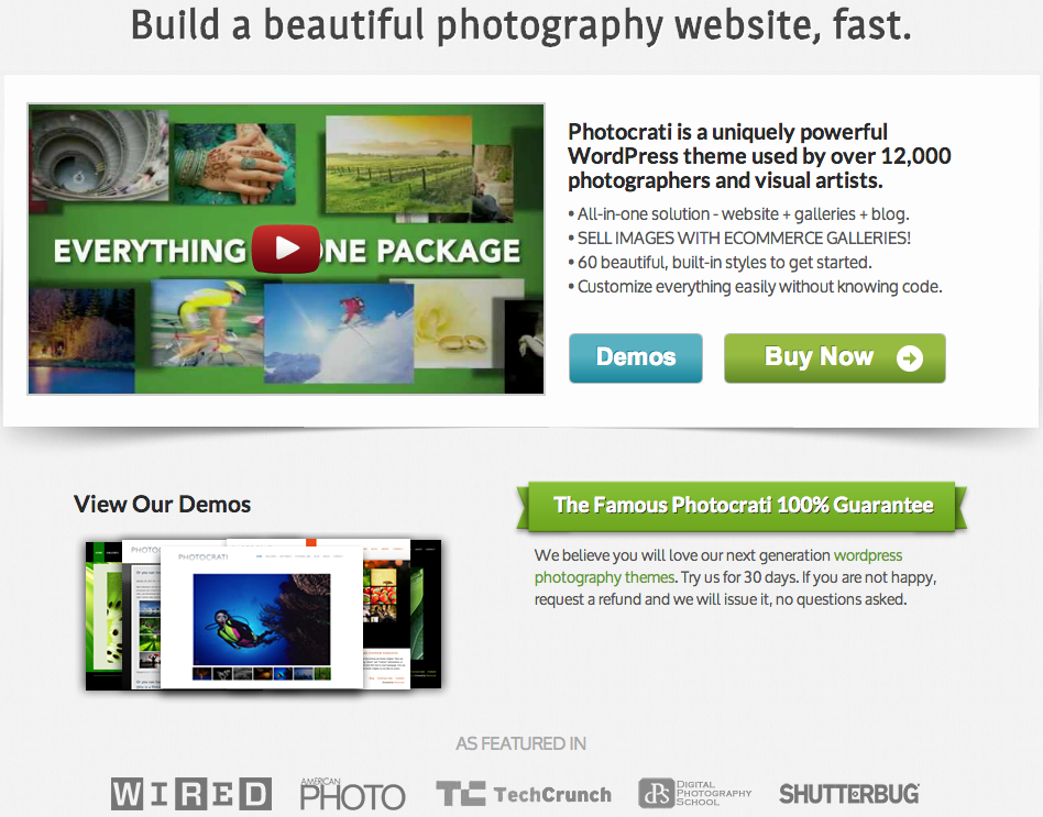 Photocrati - WordPress Photography Business in a Box