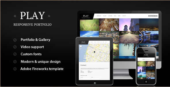 Play - Responsive Portfolio WordPress Template