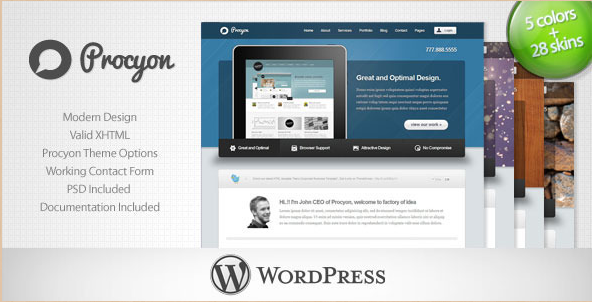 Procyon - Corporate Business WordPress Theme