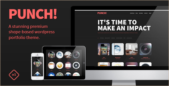 Punch - Responsive WordPress Portfolio Template
