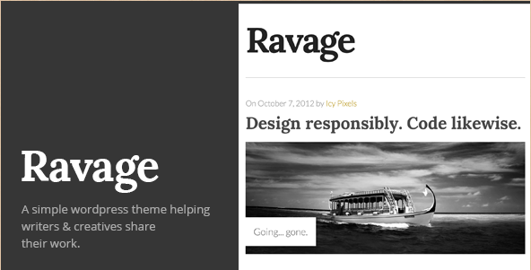 Ravage - Bold WordPress Theme