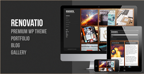 Renovatio - Responsive Fullscreen WordPress Template