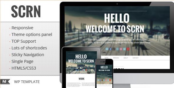 SCRN - Single Page Portfolio Theme