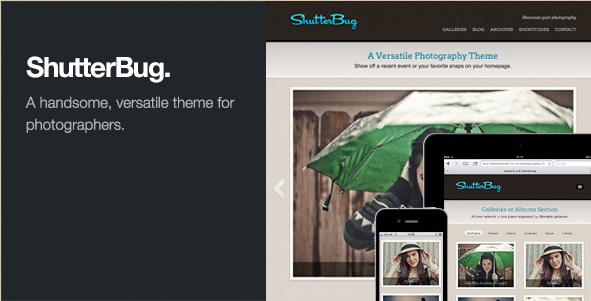 Shutterbug - Responsive WordPress Photography Theme
