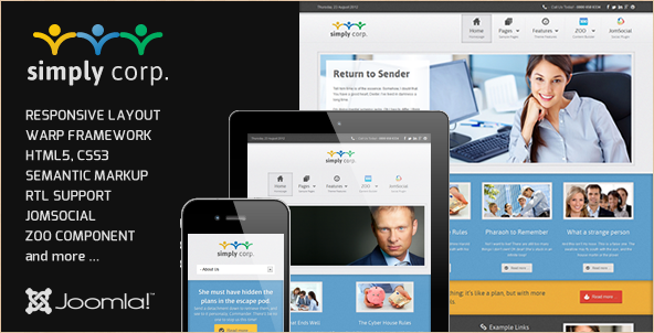Simply - Responsive Corporate Joomla Theme