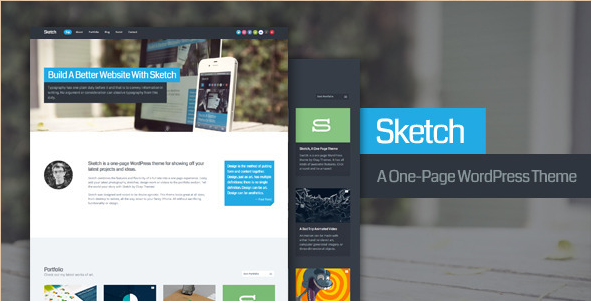 Sketch - WordPress Portfolio Template