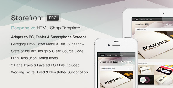 Storefront Pro - Responsive Business Template