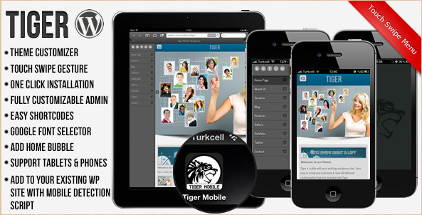 Tiger - Mobile WordPress Template