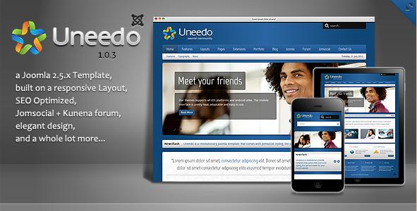 Uneedo - Responsive JomSocial Template