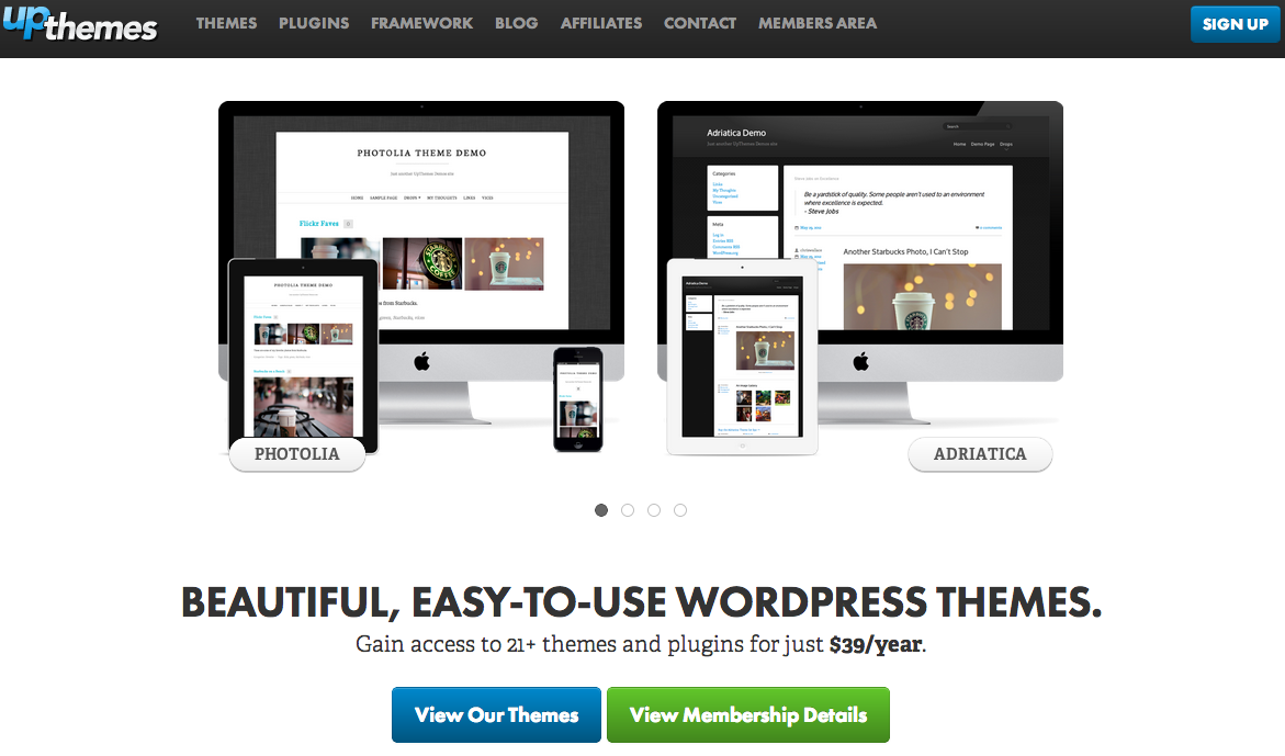 UpThemes - Easy to use WordPress Themes