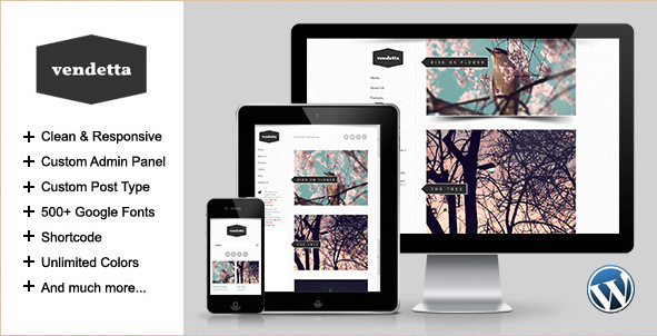 Vendetta - WordPress Portfolio Template