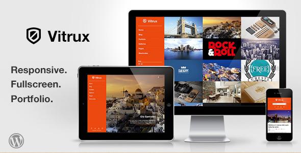 Vitrux - Responsive Fullscreen WordPress Photography Portfolio Theme