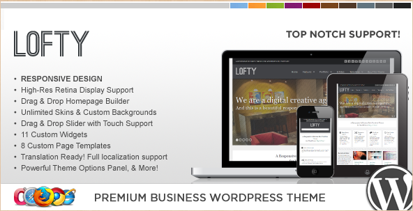 WP Lofty - Retina WordPress Template