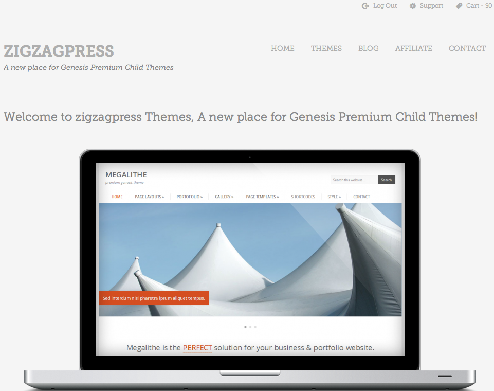 ZigzagPress - Premium StudioPress Child Themes