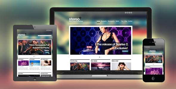 12 Stereo Squared Responsive Html Template
