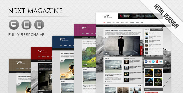 13 - Next Magazine Responsive Magazine Template