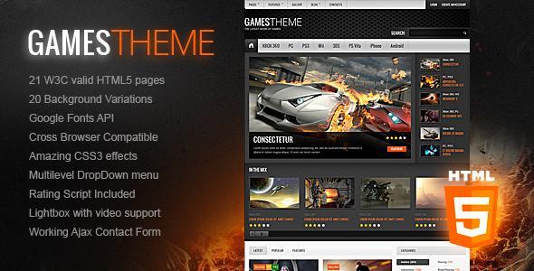 17 - Gamestheme Premium Html5 Css3 Template
