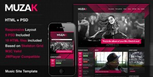 Muzak Premium Music Site Template