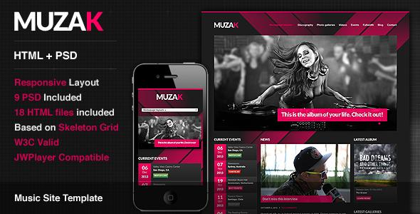 Muzak Premium WordPress Music Theme