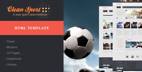 Clean Sport Sport Html Template