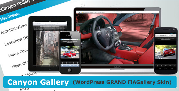Canyon Gallery - WP Grand FIAgallery Skin