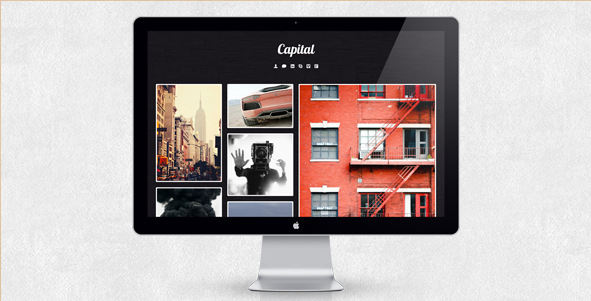 Capital - Cool Tumblr Theme