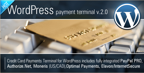 Credit Card Payments Terminal - WordPress Credit Card eCommerce Plugin