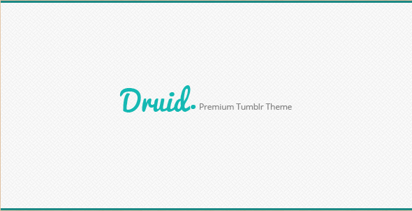 Druid - Premium Tumblr Theme