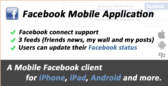 Facebook Mobile Web Application
