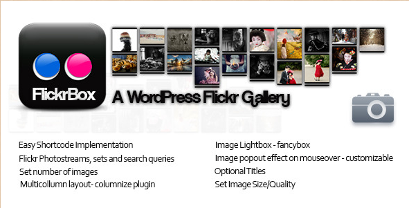 FlickrBox - WordPress Flickr Plugin and Gallery Widget