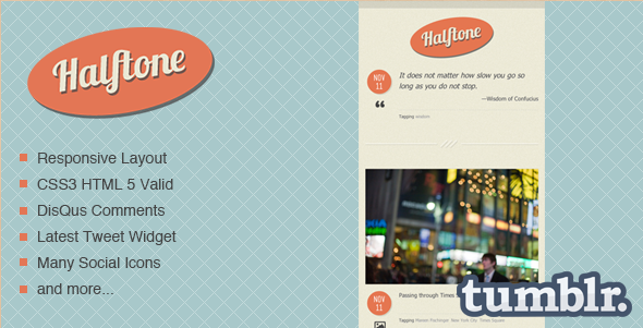 Halftone - Tumblr Template