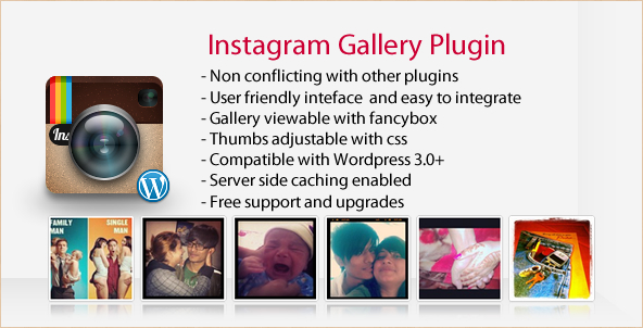 Instagram Gallery - WordPress Instagram Plugin Widget