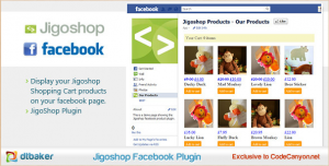 JigoShop Products - Facebook Tabs eCommerce Plugin