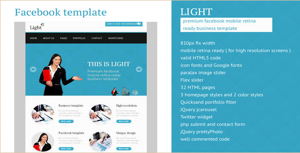 Light - Facebook Business Retina Template