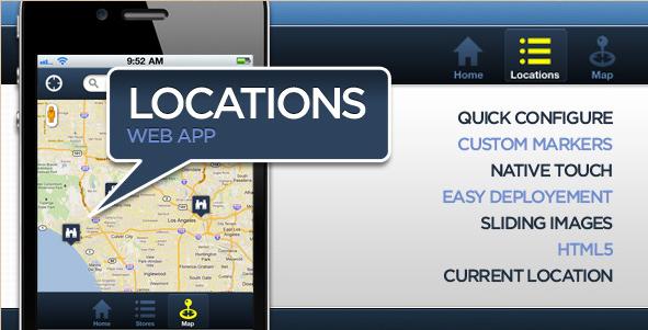 Locations Map Web App