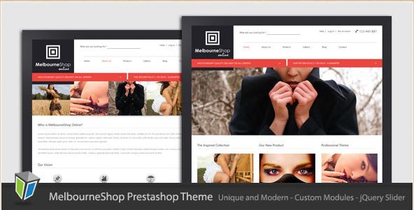 MelbourneShop - Unique PrestaShop Template