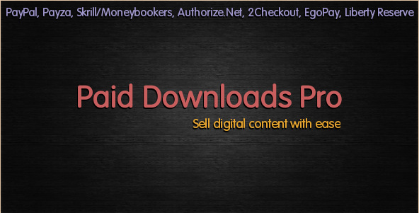 Paid Downloads Pro - WordPress eCommerce Plugin