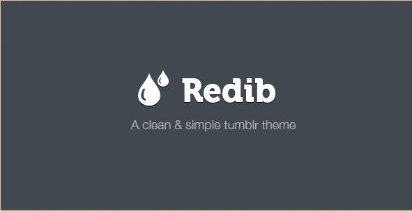 Redib - Premium Tumblr Template