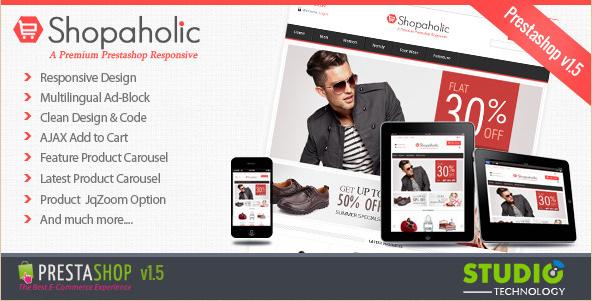 Shopaholic - Responsive PrestaShop Template