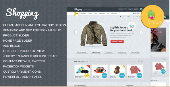 Shopping - PrestaShop eCommerce Template