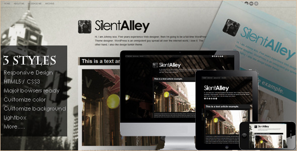 Silent Alley - Responsive Tumblr Theme