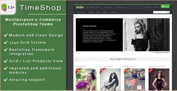 TimeShop - PrestaShop Shopping Theme