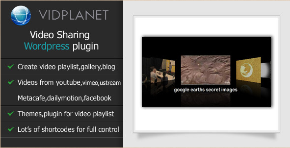Vidplanet - WordPress Video Sharing Plugin