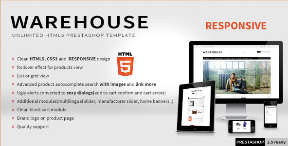 Warehouse - HTML5 PrestaShop Theme